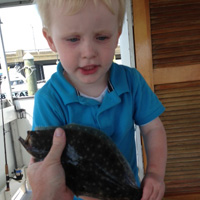Alex's first flounder