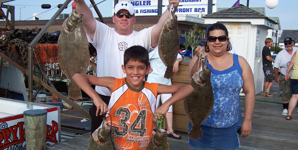 Family with Flounder Catch